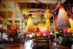 Art Umbrella feito a mão para o viajante da mostra e da venda em BO-cantou a mão Imagens de Stock