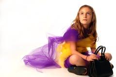 Art und Weise des kleinen Mädchens Stockfotografie