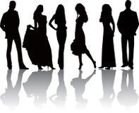 Art und Weise Mädchen und Jungevektor Lizenzfreie Stockfotos