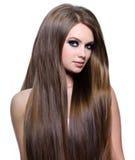 Art und Weisebaumuster mit dem langen Haar stockfoto