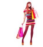 Art- und Weiseeinkaufen-Mädchen Lizenzfreie Stockfotografie