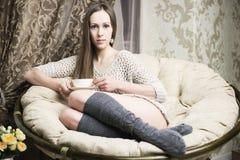 Art und Weisefoto der schönen Frau Lizenzfreie Stockfotos