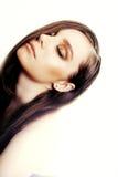 Art und Weisefoto der schönen nackten Frau Stockfoto