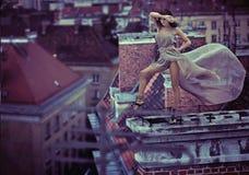 Art und Weisefoto einer reizvollen Dame Lizenzfreie Stockbilder