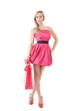 Art und Weisefrau mit Einkaufstasche Lizenzfreies Stockfoto