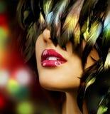 Art- und Weisefrauen-Portrait Stockfotos