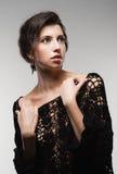Art und Weisefrauenportrait Stockfoto