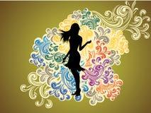 Art- und Weisekleidungs-Tapete Stockbild