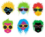 Art und Weiseleute mit Sonnenbrillen Lizenzfreie Stockbilder