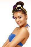 Art und Weisemädchen in einem Badeanzug lizenzfreie stockfotografie