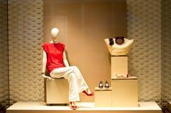 Art- und Weisemannequin-Bildschirmanzeige Stockbilder