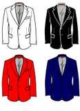 Art- und Weiseplatten-formale Jacke für Mann Stockbild