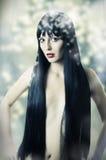 Art und Weiseportrait der jungen hübschen Frau Lizenzfreie Stockfotografie
