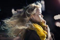 Art und Weiseportrait der jungen schönen Frau Lizenzfreie Stockfotografie