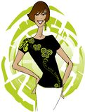 Art und Weiset-shirt auf Papierlösekorotron Lizenzfreie Stockfotos