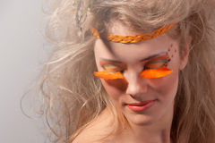 Art- und Weiseverfassung Art.-Face.Creative stockfotos