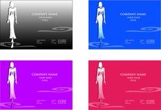 Art- und WeiseVisitenkarten Lizenzfreie Stockfotos