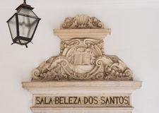 Art in the University of Coimbra in Portugal Stock Photography