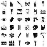 Art university icons set, simple style. Art university icons set. Simple set of 36 art university vector icons for web isolated on white background Royalty Free Stock Photo