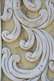 Art Unpainted Cement Sculture tailandese tradizionale Fotografie Stock Libere da Diritti