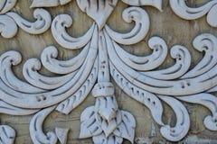 Art Unpainted Cement Sculture tailandese tradizionale Immagini Stock Libere da Diritti