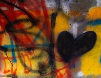 Art urbain énervé de Graffitti images stock