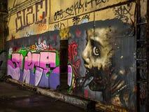 Art urbain de Glasgow à un vieil endroit dans la rue de l'Ecosse, Glasgow photo libre de droits
