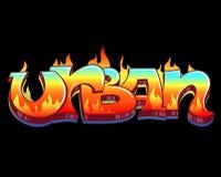 Art urbain de graffiti Photos stock