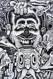 Art urbain noir et blanc images libres de droits