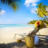 Art Vacation on summer Beach Stock Photo