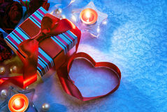 Art Valentine Day Card Royalty Free Stock Photography