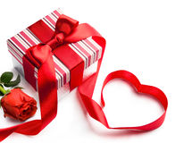 Art valentines holiday gift box Royalty Free Stock Photography
