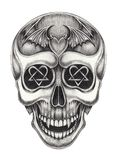 Art Vampire Skull Tattoo Image stock