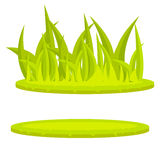 Art. van de het beeldverhaal vectorklem van het grasgazon het groene Stock Afbeelding