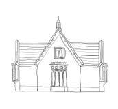 Art. van de huis het uitstekende leuke lijn Stock Afbeelding