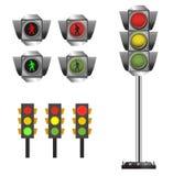 Art. van de verkeerslicht het vastgestelde vectorklem Stock Afbeelding