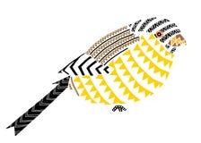 art. van vogel het Inheemse patronen Stock Afbeelding