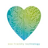 Art vector graphic illustration of modern digital heart, technology innovation abstract design. Alternative energy concept. royalty free illustration