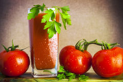 Art vegetable tomato juicy board table wooden pars royalty free stock image