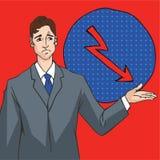 Art-Vektor Illustration des Pop-Arten-Büros komische Stockbild