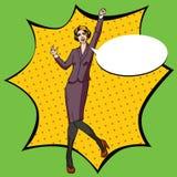 Art-Vektor Illustration des Pop-Arten-Büros komische Stockfoto