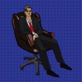 Art-Vektor Illustration des Pop-Arten-Büros komische Stockfotos