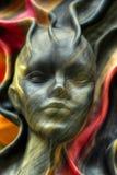 Art of Venice. Lady face in modern art, Venice, Italy Stock Photos