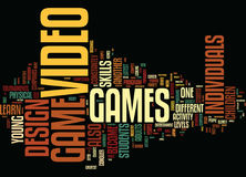 The Art Of Video Game Design Text Background  Word Cloud Concept Stock Photo