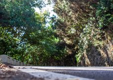 Art view from a curvy road. A Art view from a curvy road stock photography
