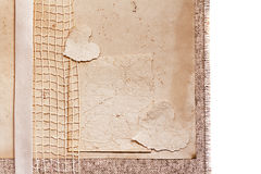 Art vintage background with Hearts and Old paper for design Stock Images