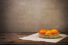 Art vintage background orange board table wood woo Stock Image