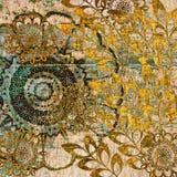 Art vintage floral background. Art grunge vintage floral background Stock Photography