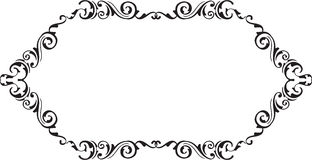 Art vintage ornamente scroll fine page. On white Stock Photos