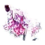 Art Violet, claret, red watercolor ink paint blob Stock Photos